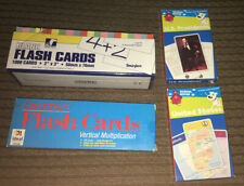 Lot of 4 Flash Cards: Us Presidents United States Multiplication Blank Cards