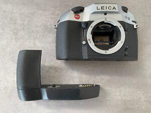 Leica R8 Chrome And Winder
