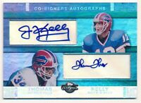 JIM KELLY THURMAN THOMAS 2007 TOPPS CO-SIGNERS DUAL AUTOGRAPH BILLS AUTO #10/10