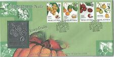 Malaysia FDC 1998 Rare Fruits Buah-Buahan Nadir Royal Selangor Pewter