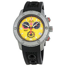 Swiss Military Rallye GMT Yellow Dial Mens Rubber Watch 2749