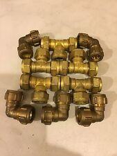 15 mm in Ottone Compressione Gomito TEE RACCORDI IDRAULICI ACQUA JOB LOTTO (10 oggetti)