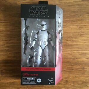Star Wars  Attack Of The Clones - Black Series - Phase 1 Clone Trooper Figure