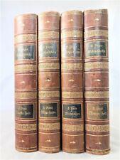 🗝️  Antik - 1891 - Jäger  Weltgeschichte in 4 Bänden Halbleder - 2. Auflage