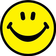 SMILEY FACE Yellow Smile Sticker NEW MERCHANDISE Rare