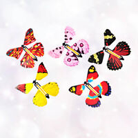 5x Trick Magic Prop Flying Wind Up Butterfly Toy for Birthday Wedding Card Prank