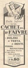 W2390 Cachet del Dott. FAIVRE - Pubblicità del 1930 - Vintage advertising