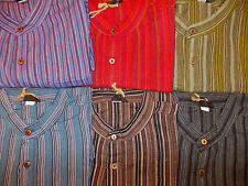 Men's Striped Cotton Loose Fit Casual Shirts & Tops