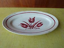 Antiguo plato de cerámica decoración de tulipa art popular, french antiguo