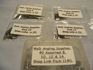 Assorted Packs of Black AMERICAN SNAP Fishing SWIVELS choose from drop down menu