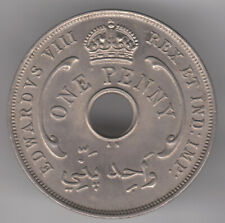 British West Africa 1d Penny 1936 KN Copper-nickel Coin - Edward VIII