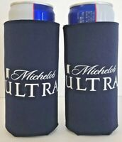 Michelob Ultra Slim Can Koozie 12 oz Cooler Holder - Set of Two (2) - New & F/S