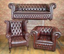 Leather Chesterfield suite/chair/sofa B/NEW