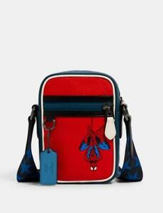 MWT Limited Edition COACH Marvel Spider-Man Terrain Crossbody Bag MSRP $298