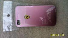 pink ferrari I phone 4s back cover endorsed by michael schumacher memorabilia