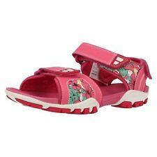 Sandales roses en cuir pour fille de 2 à 16 ans