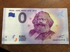 BILLET 0 ZERO EURO SOUVENIR TOURISTIQUE KARL MARX TRIER