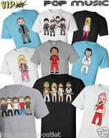VIPwees Mens T-Shirt ORGANIC Cotton Pop Music Inspired Caricatures Choose Design