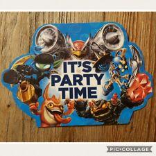 8 x Skylanders Children's Kids Birthday Party Invitations Invites