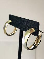 14K Multi-Tone Gold Hoop Earrings