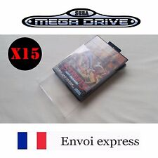 15X Protection transparente boite Megadrive -boitier protector case box sleeve