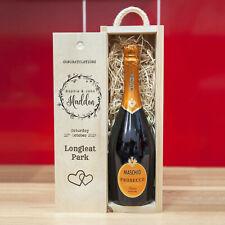 Personalised Wooden Wine Box - Wedding, Birthday, Anniversary - Wreath Design