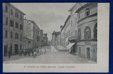 "SANT'ANGELO IN VADO Corso Garibaldi animata  no  viaggiata ""900  f/p #20752"