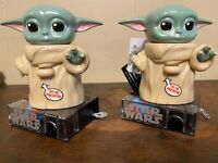 Lot of (2) Star Wars Mandalorian The Child Baby Yoda Candy Dispenser w/ Sound