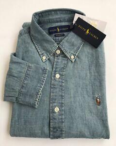 Polo Ralph Lauren Denim Mens Long Sleeve Shirt Medium