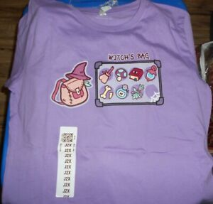 Junior Girls Tee Turtle 2XL Witch's Bag Purple Tee T-Shirt New with Tags Retired