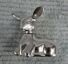 Silver Fawn Deer Vintage Empty Avon Sweet Honesty Cologne 5 oz Bottle Free S/H
