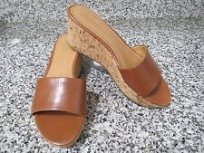 SANDALIAS DE CUÑA NINE WEST COLOR CAMEL Nº 36