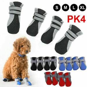 2021 Small Dog Shoes Protective Anti Slip Pet Rain Boots Booties Sock UK