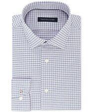14533486 Tommy Hilfiger Men's Slim-Fit Non-Iron Performance Stretch Check Dress Shirt