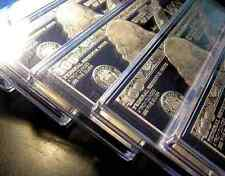 DISCOUNTED 5 x 2018 4oz FRANKLIN .999 CURRENCY SILVER BARS  20 ozs AIR-TITES COA