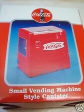 RARE COCA COLA VENDING MACHINE STYLE CANISTER - NIB