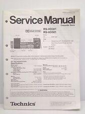 Technics Original Service Manual RS-HD301 + RS-HD501 Cassette Deck