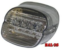 Bright Ass Lights LED Taillight for H-D - Smoked Lens Laydown w/o Tag Window