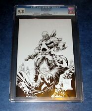 DEATHMATCH #1 CGC 9.8 WHITE PAGES virgin sketch variant 1:75 PAUL JENKINS BOOM
