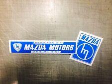 Mazda Motors (Sales) & Mazda Vinyl Decal suit R100 Rx2 Rx3 Rx4 Rx7 13b 12a 10a