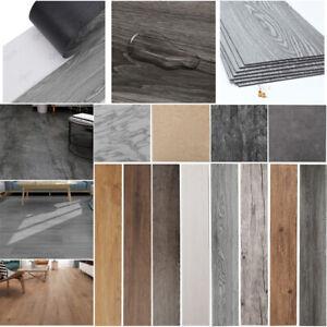 Floor Tiles 24/36 Self-adhesive Stone Marble PVC Flooring Wood Planks Grey White