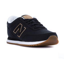 NEW MEN'S NEW BALANCE 501 CANVAS SUEDE GUM CASUAL SNEAKER SHOES! IN BLACK WHITE!