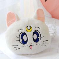 Sailor Moon fuzzy white luna fuzzy Nap blankets pillow cushion blanket quilt new