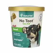 Naturvet No Toot Gas Aid Plus Fennel Soft Chews for dogs 70ct Made in USA