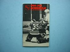 1980/81 NATIONAL HOCKEY LEAGUE NHL HOCKEY SCHEDULE & 1979/80 STATISTICS BOOKLET