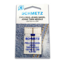 SCHMETZ Twin Jeans Needle 4.0mm Size 100/16 - Great for Denim Leather Suede