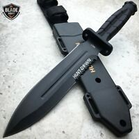 """12"""" TACTICAL SURVIVAL HUNTING KNIFE MILITARY DAGGER Fixed Blade BOWIE  w SHEATH"""