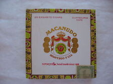 LOT OF TWO MACANUDO MONTEGO Y CIA CIGAR BOXES ( BOXES ONLY NO CIGARS )