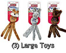 Kong Wubba Friend Squeaky Dog Toy - SET OF (3) LARGE - FOX, BEAR & RABBIT