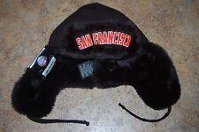 San Francisco GIANTS MLB Faux Fur TRAPPER HAT One Size WARM by New Era Cap NWT